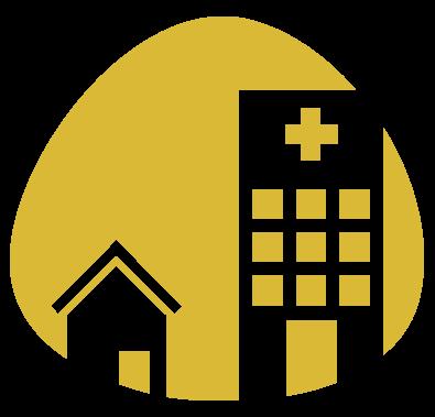 Thuis of in het ziekenhuis